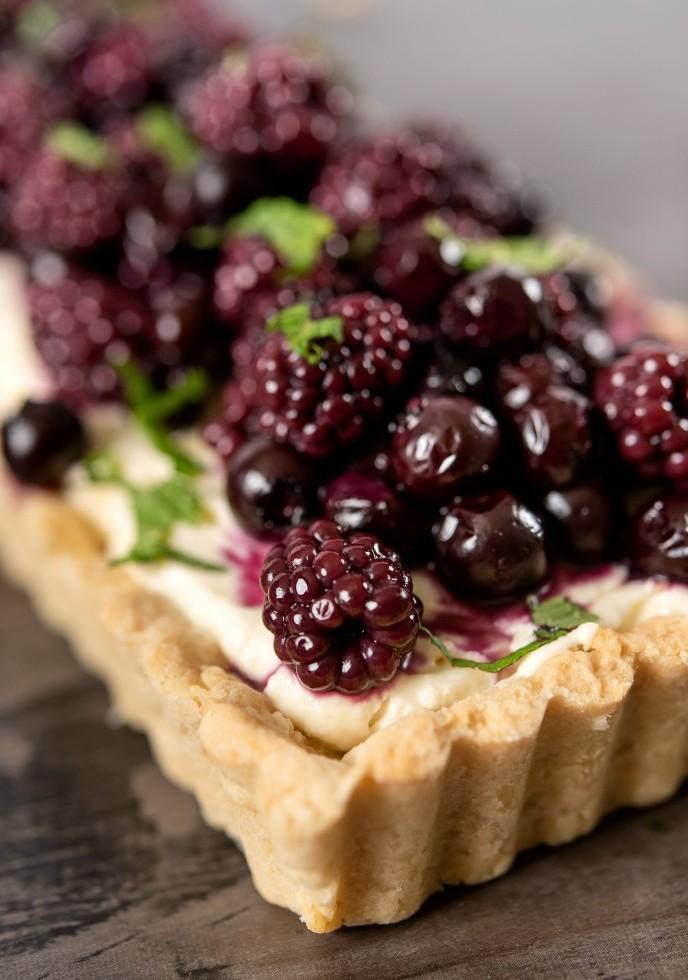 Blueberry And Blackberry Lemon Cream Tart
