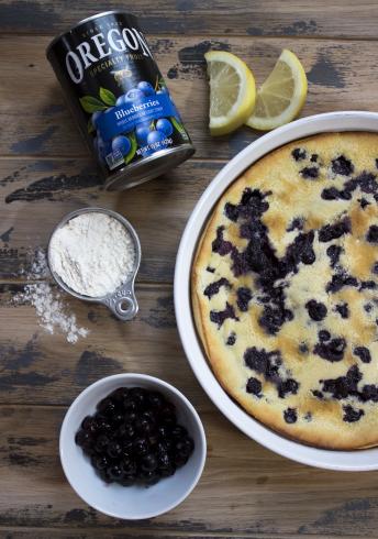 Blueberry Lemon Clafoutis