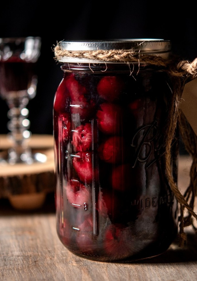 Dark Sweet Cherry Brandy DIY