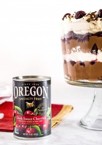 Dark Sweet Cherry Chocolate Trifle