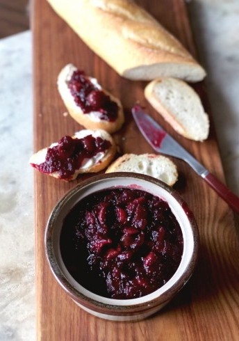 Red Tart Cherry and Cranberry Chutney