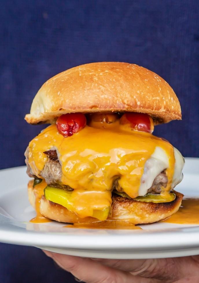 Red Tart Cherry Mustard Burgers