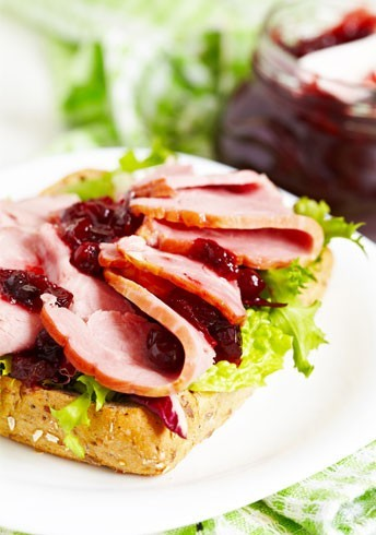Blushing Turkey and Cheese Sandwiches