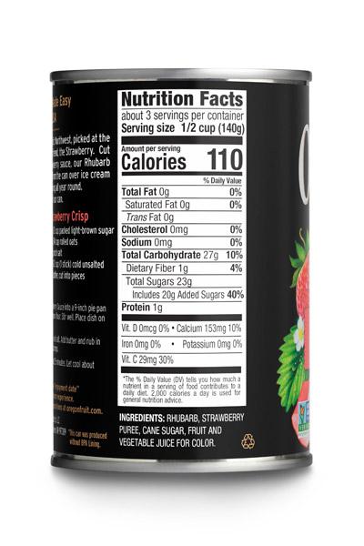 Rhubarb in Strawberry Sauce