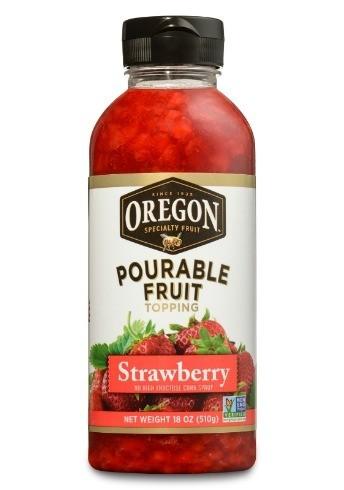 Strawberry Vinaigrette on Almond & Pea Salad