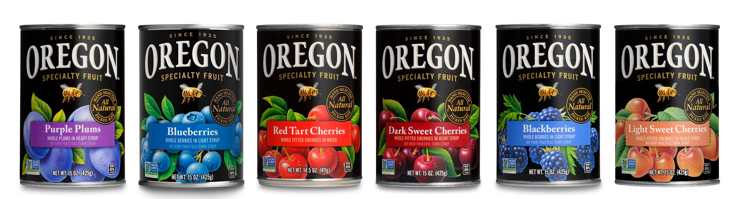 Multi-Can Of Oregon Fruit Fruit Graphic