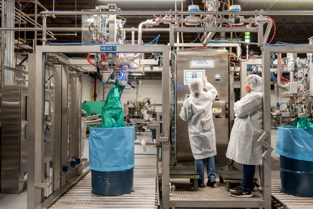 Employees Processing Puree