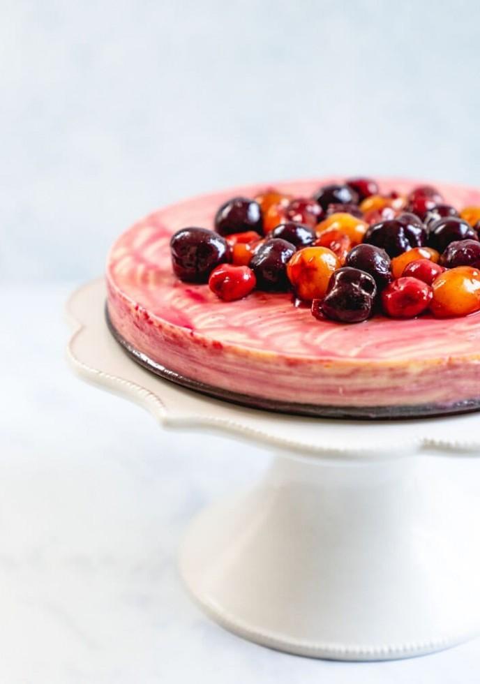 Triple Cherry Cheesecake