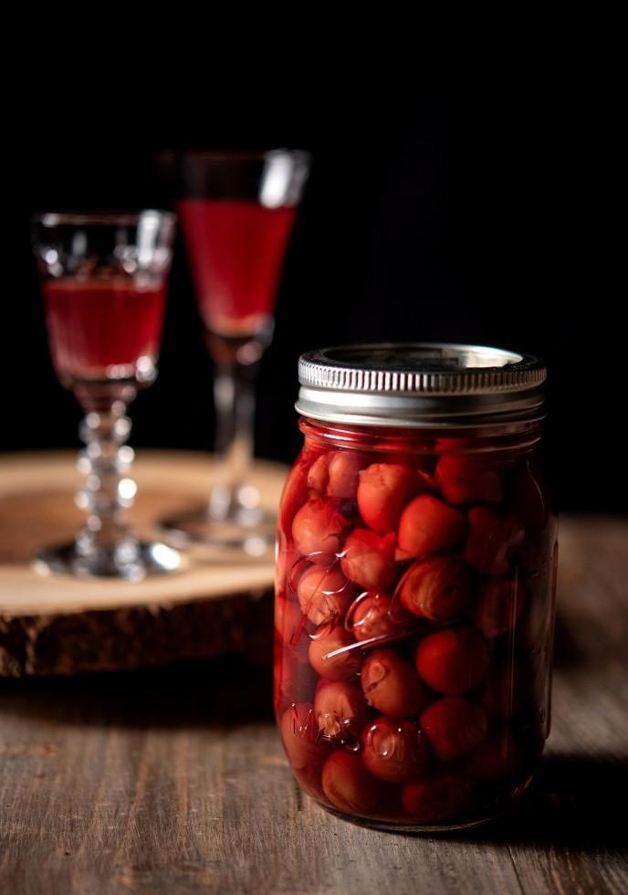 Red Tart Cherry Vodka DIY