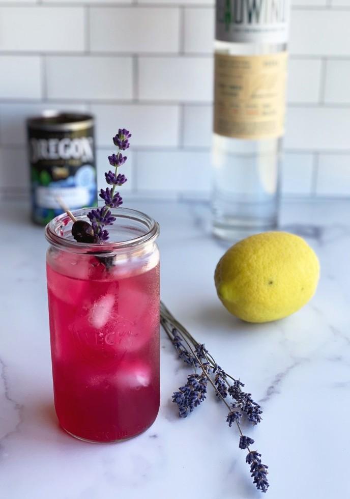 Spiked Blueberry Lavender Lemonade