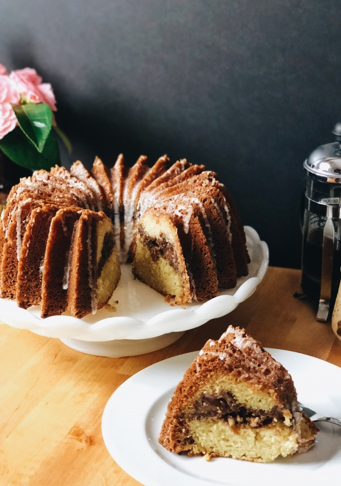 Whole Purple Plum Sour Cream Coffee Cake