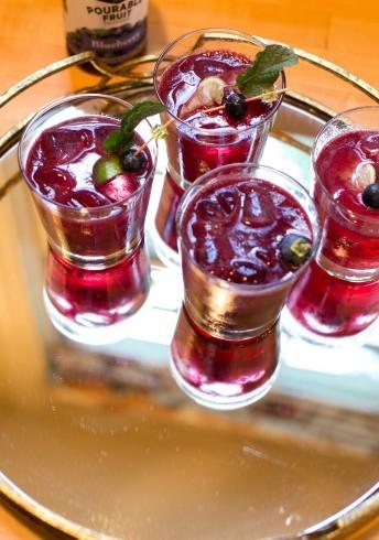 Blueberry Bourbon Mint Fizz