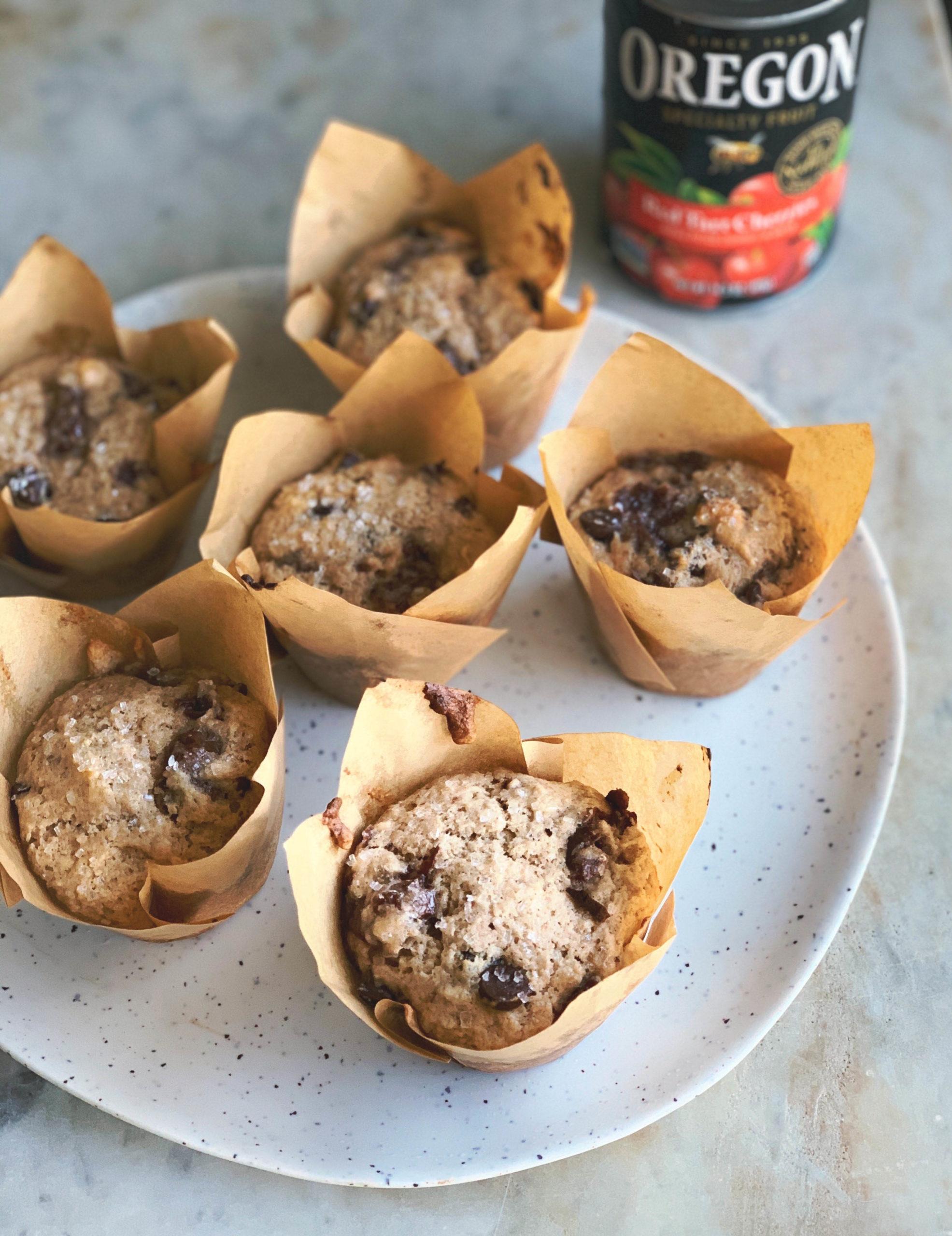 Red Tart Cherry Muffins