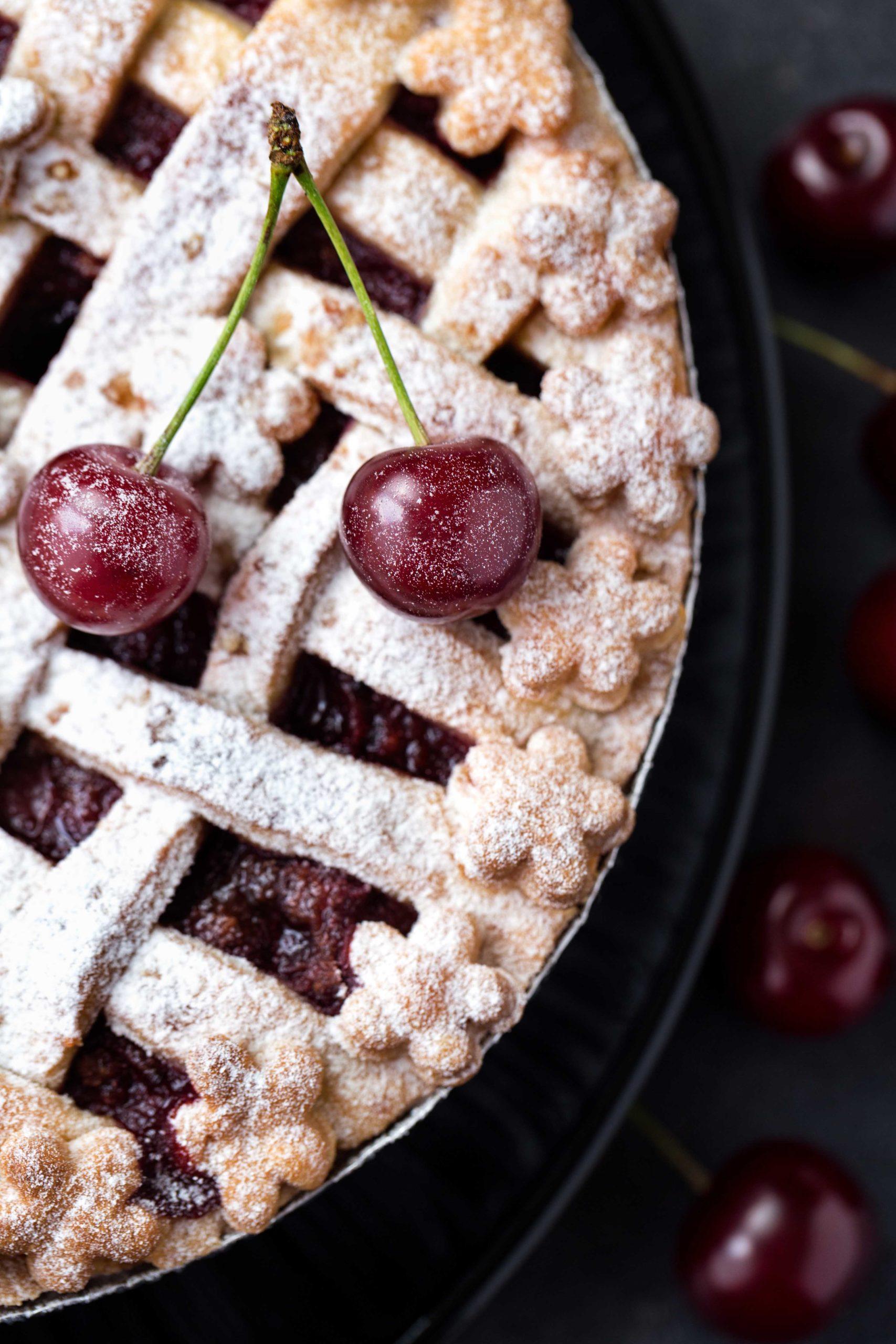 Dark Sweet Cherry Pie