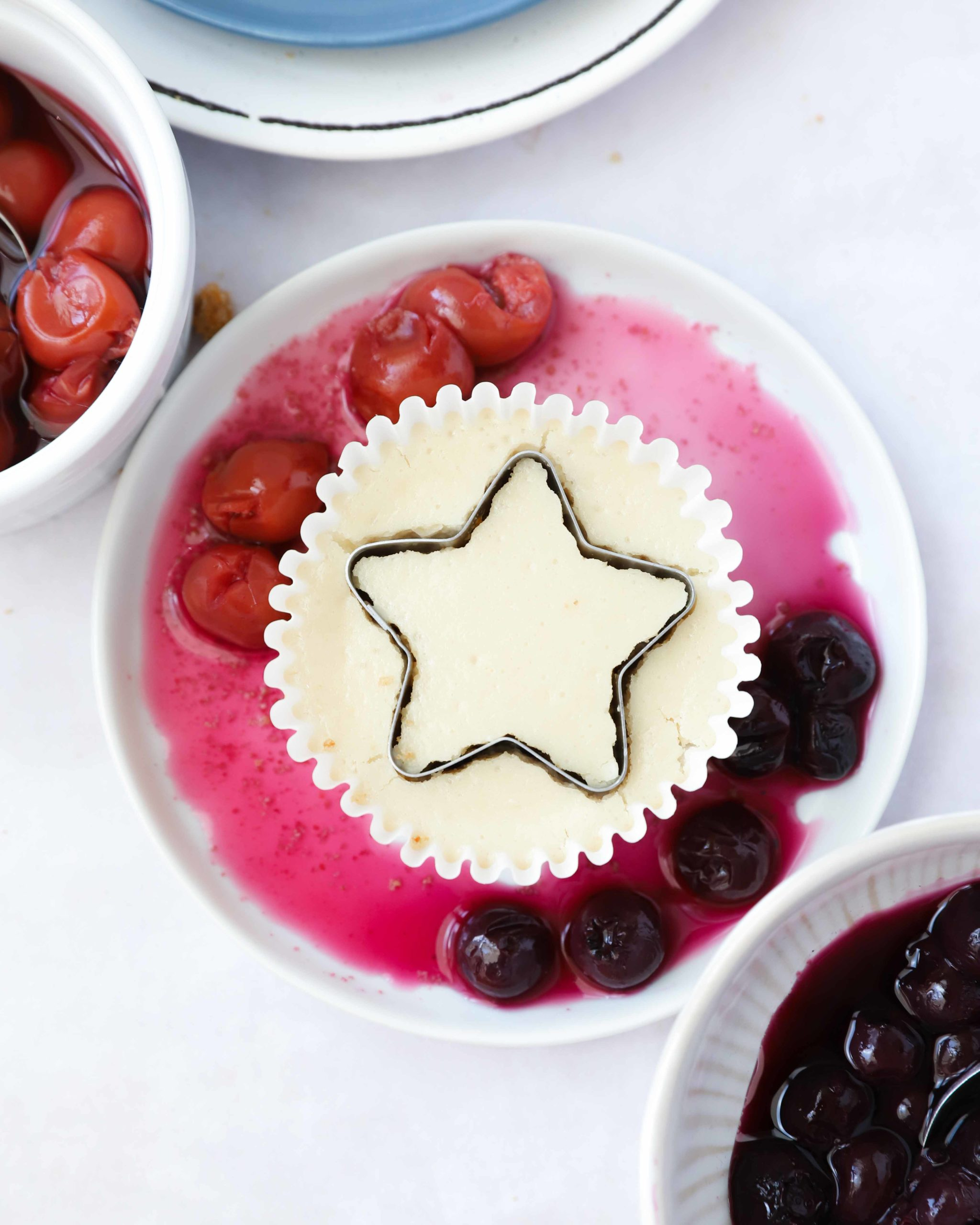 Cherry & Blueberry Cheesecakes